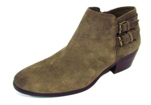 Sam Edelman Suede Side Zip Taupe Boots