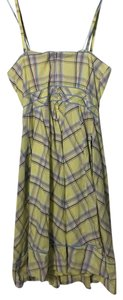 Maeve short dress Yellow/Blue Plaid on Tradesy