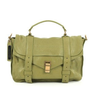 Proenza Schouler Proenza Leather Satchel in Green