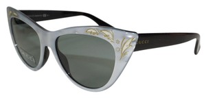 Gucci GUCCI SILVER GOLD DETAIL CAT EYE SUNGLASSES GG 3806/S