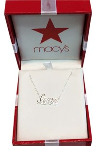 Macy's Macy's Gianibernni 18' sterling silver necklace