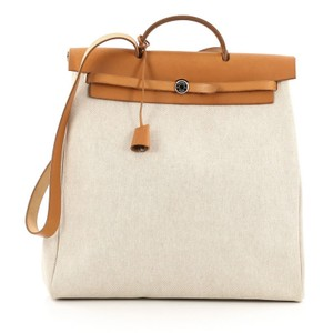 Hermès Hermes Beige Tote in Leather