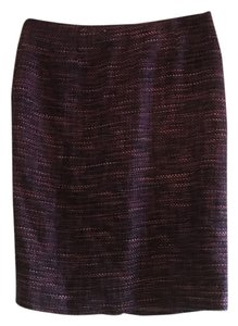 Charter Club Pencil Pattern Vintage Colorful Skirt Purple