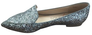 Sole Society Silver glitter Flats