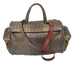 Zagliani Snakeskin Shoulder Bag