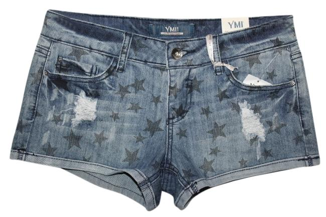 Preload https://item4.tradesy.com/images/ymi-jeans-denim-blue-new-with-tags-distressed-minishort-shorts-size-4-s-27-2036028-0-0.jpg?width=400&height=650