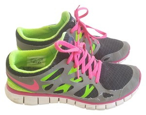 Nike Pink Neon Green Free Run Black Athletic