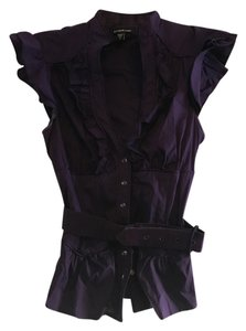 bebe Sleeveless Top Purple