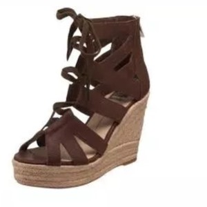 Dolce Vita brown leather Wedges