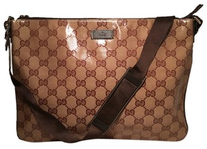 e3d5a562447 Gucci Shoulder Monogram Canvas Coated Canvas Xl Tote brown Messenger Bag