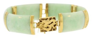 Other Antique Jade Bracelet- 14k Yellow Gold