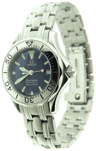 Omega Omega Seamaster Date 30mm Stainless Steel Blue Wave Dial Watch