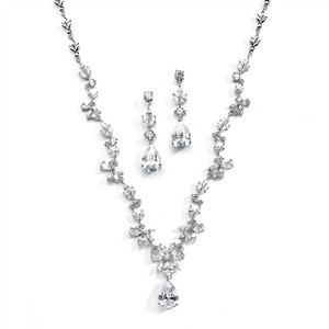 Mariell Stunning Cz Vine Wedding Jewelry Set