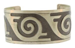 Other Aztec Tribal Inspired Cuff Bracelet- Sterling Silver