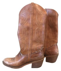Dingo Cowboy Vintage Western Light Brown Boots