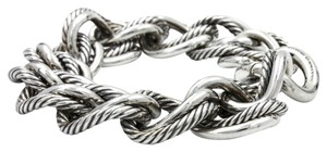 David Yurman David Yurman Curb Chain Small 18mm Link Bracelet in 925 Sterling Silve