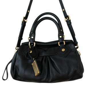Marc by Marc Jacobs Crossbody Shoulder Gold Satchel in Black
