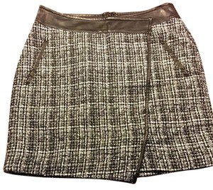 Outback Red Mini Skirt black and white tweed