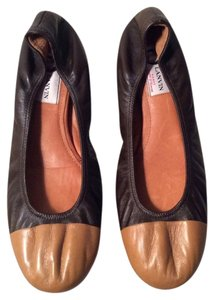 Lanvin Chocolate brown/tan Flats