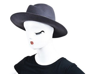Maison Michel Maison Michel Gray Rabbit Felt Metal Band Virginie Fedora