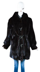 Other Vintage Garber Furs Mink Fur Hooded Toggle Coat