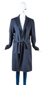 Louis Vuitton Dark Cashmere Belted Long Coat