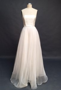 Strapless Silk Organza And French Lace Wedding Dress