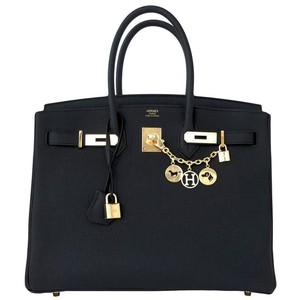 Hermès Birkin 35 Satchel in Black