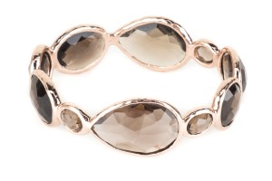 Ippolita Ippolita Rose Gold And Brown Smoky Quartz Bangle Bracelet