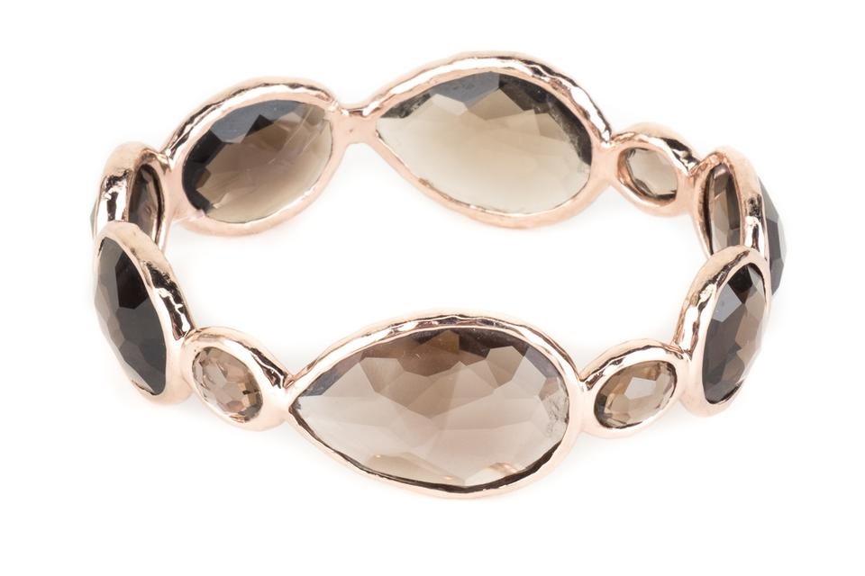 Ippolita Rose Gold And Brown Smoky Quartz Bangle Bracelet