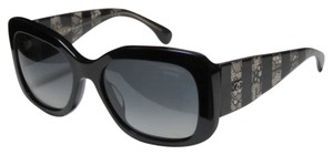 Chanel Chanel LIKE NEW Polarized Black Signature sunglasses with lace temple
