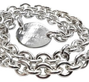 Tiffany & Co. STUNNING!!!! Tiffany & Co. Sterling Silver Necklace with Oval
