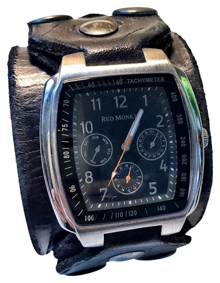 black x strap chronograph watch tradesy. Black Bedroom Furniture Sets. Home Design Ideas