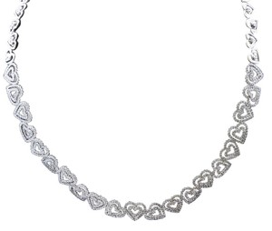 Dignity Jewels 18K White Gold Necklace/Diamond- 5.46ct