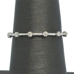 Other 14K White Gold Natural Diamond Stackable Ring