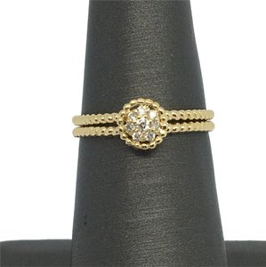 Other 14K Solid Yellow Gold Twist Halo Natural Diamond Ring