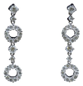 Dignity Jewels 18k White Gold And Diamond Earring Round Shape Diamond- 1.52ct