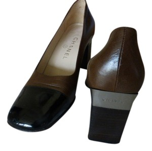 Chanel BROWN LEATHER WITH TOE CAP Pumps