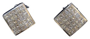 Dignity Jewels 18k White Gold And Diamond Earring Princess Shape Diamond