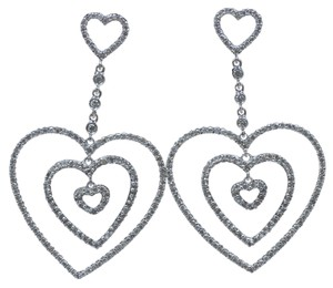 Dignity Jewels 18K White Gold And Diamond Dangling Earring Round Shape Diamond-1.65ct