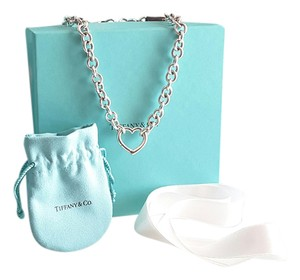 Tiffany & Co. Open Heart Chain Necklace