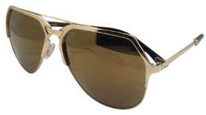 Dolce&Gabbana New DOLCE & GABBANA Sunglasses DG 2151 K440/F9 18K Gold Plated Aviator