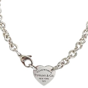 Tiffany & Co. CLASSIC!! Tiffany & Co. Return to Tiffany Heart Tag Choker Sterling Silver. 100% Authentic Guaranteed!!! Comes with Complimentary Tiffany Blue Colored Polishing Cloth!!!!