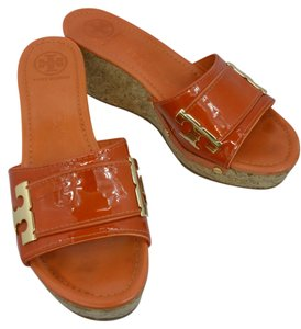Tory Burch Sandals Orange Wedges