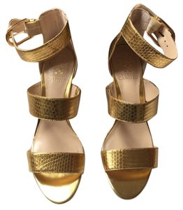 Vince Camuto Strappy Gold Sandals