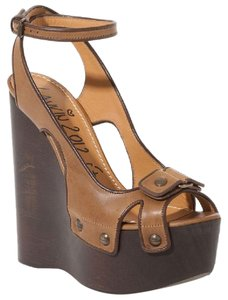 Lanvin Brown Leather Paltform Platforms