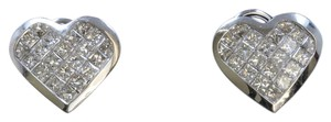 Dignity Jewels 18K White Gold And Diamond Earring Princess Shape Diamond(invisible Se