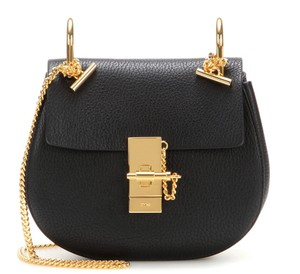Chloé New Mini Drew Textured Chain Shoulder Bag
