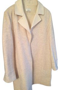 Neiman Marcus Coat Wool New Cream, Beige, Ivory Jacket