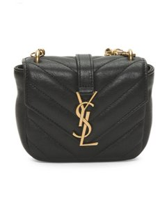 Saint Laurent Monogram Ysl Mini Black Clutch